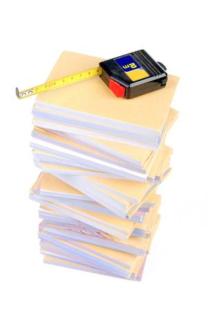 Documents and tape line Stock Photo - 13137946