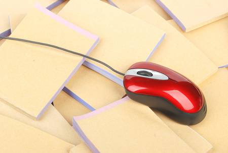 Documents and computer mouse Stock Photo - 13137404