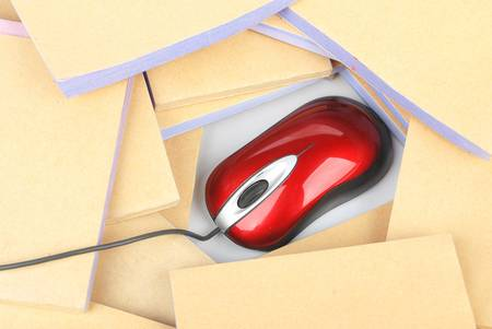 Documents and computer mouse Stock Photo - 13137409
