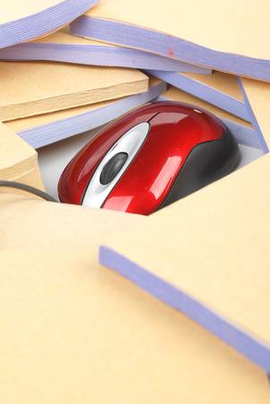 Documents and computer mouse Stock Photo - 13137393