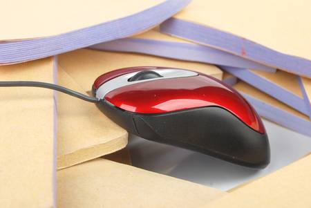 Documents and computer mouse Stock Photo - 13137399