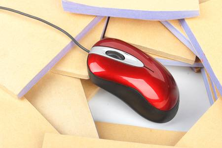 Documents and computer mouse Stock Photo - 13137407