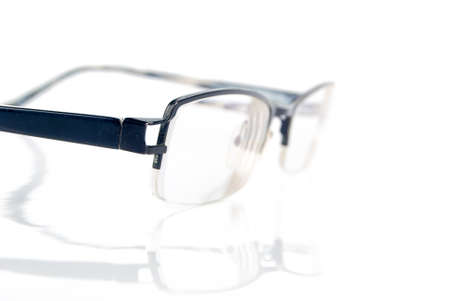 myopic: Eyeglasses on white background