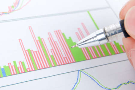 Stock chart Stock Photo - 13185976