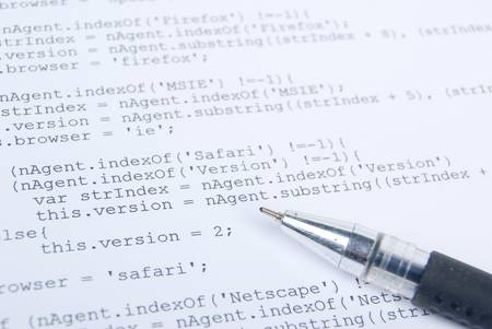HTML page and pen Stock Photo - 13280037