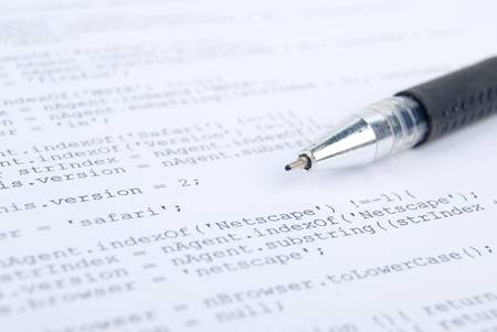ajax: HTML page and pen Stock Photo
