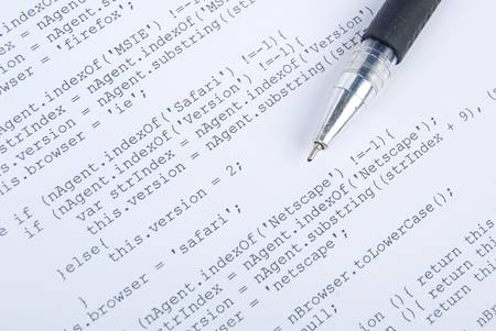 HTML page and pen Stock Photo - 13360006