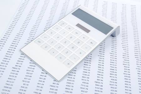 Financial data and calculator photo