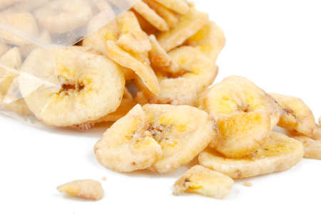 Dried banana slices photo