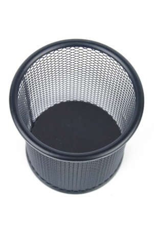Steel mesh brush pot photo