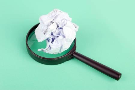 Waste paper photo