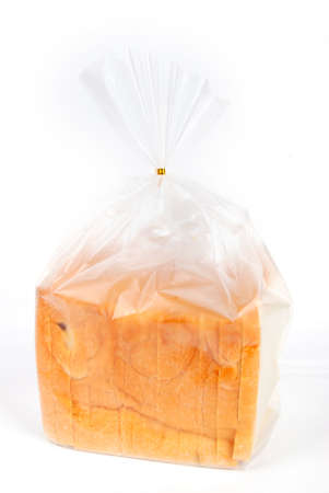 Bread in plastic bag photo