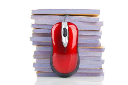 Computer mouse and documents Stock Photo - 13305202