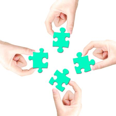 Hand and puzzle Stock Photo - 13305197