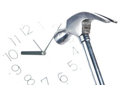 Hammer and clock photo