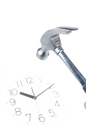 Hammer and clock photo