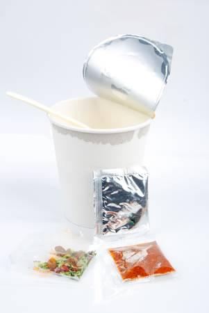 monosodium glutamate: Instant noodles
