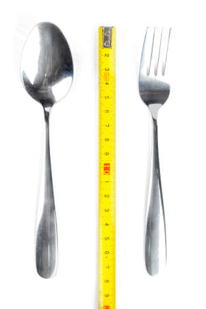Tableware and ruler photo