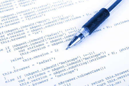 Html and pen Stock Photo - 13340461