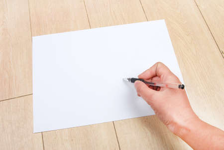 A4 paper and pen Stock Photo - 13336218