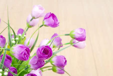 artificial flowers: Flower on floor