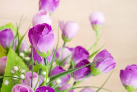 purple silk: Flower on floor