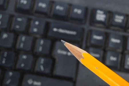Computer keyboard and pencil Stock Photo - 13371230