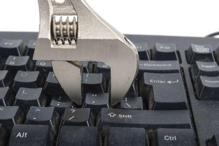 Concept of computer repairing photo