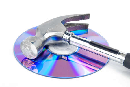 Hammer and DVD Stock Photo - 13370438