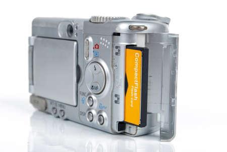 Memory card and camera Stock Photo - 13370608