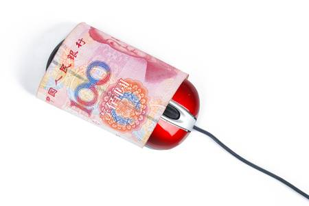 Computer mouse and currency photo