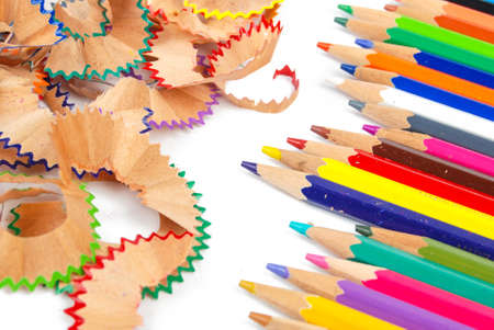 Color pencil and shavings photo