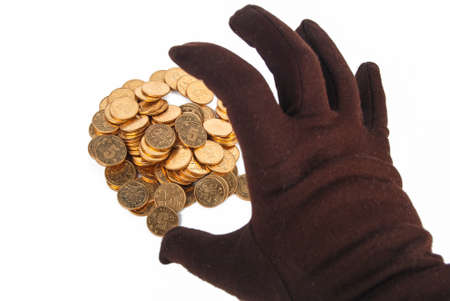 Gloves and coin photo