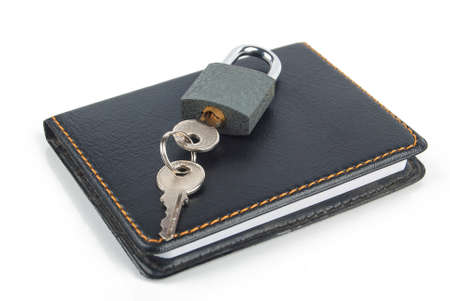 Padlock and notepad photo