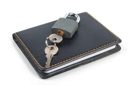 Padlock and notepad Stock Photo - 13446560