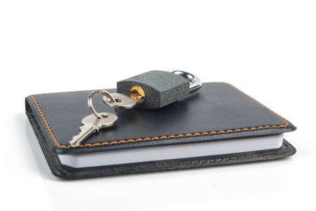 Padlock and notepad Stock Photo - 13445247