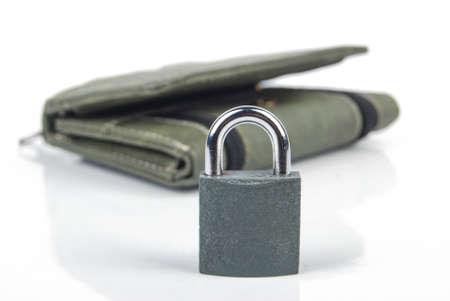 Padlock and wallet photo