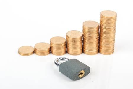 Locked money photo