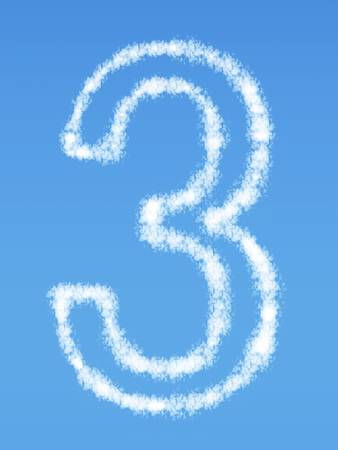 Number 3 cloud symbol
