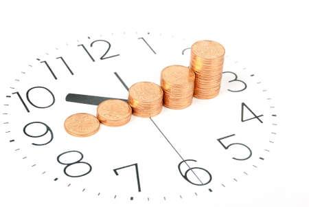 zeitarbeit: Zeit ist Geld Lizenzfreie Bilder