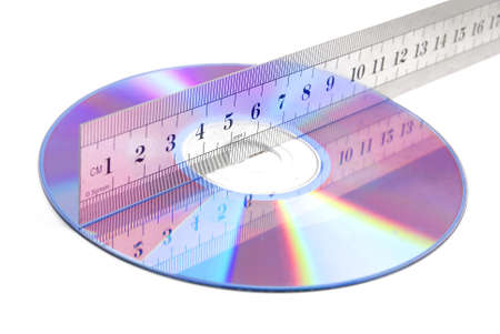 DVD and stainless steel ruler photo