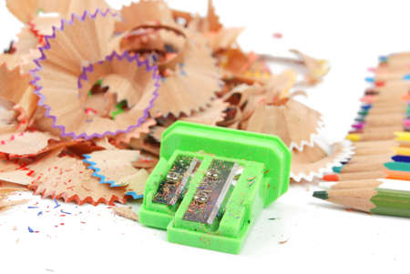 Sharpener and color pencil Stock Photo - 13447772