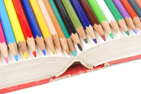 Color pencil and dictionary Stock Photo - 13448797