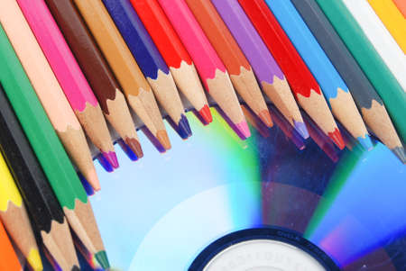 Color pencil and DVD photo