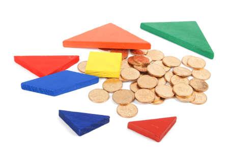 jigsaw tangram: Tangram and coins