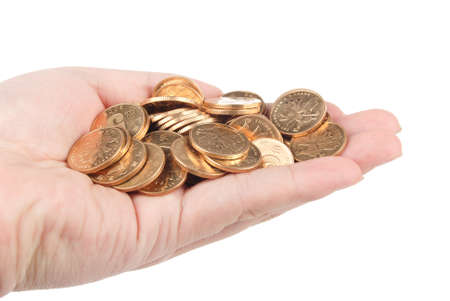 Coins in hand Stock Photo - 13498029