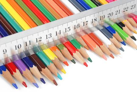 Ruler and color pencil Stock Photo - 13459439
