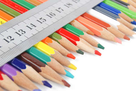 Ruler and color pencil photo