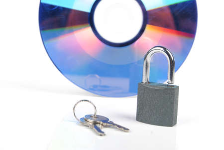 DVD and padlock photo