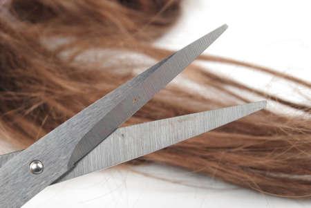 Scissors and hair Stock Photo - 13489112